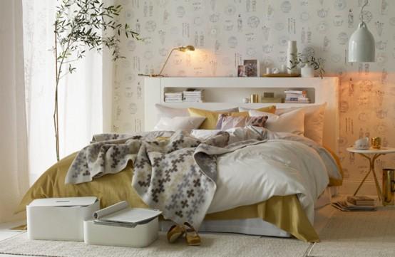 camera-da-letto-bianca-e-oro | pitturablog